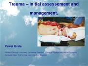 Surg trauma initial assesement and management