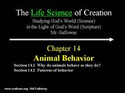 Life Ch14 Animal Behavior