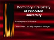 Dorm Fire Safety web version revised 2003