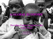 Poverty and the global economy