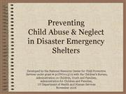 Shelter Preventing Child Abuse Neglect