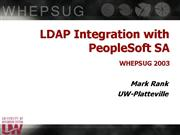 LDAP Integration 
