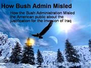 How Bush Admin Misled about Iraq