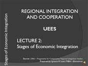 2 Stages of economic integration