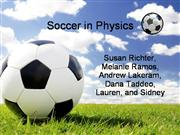 physics of soccer  powerpoint