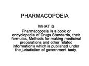 PHARMACOPOEIA