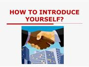 How to introduce yourself?