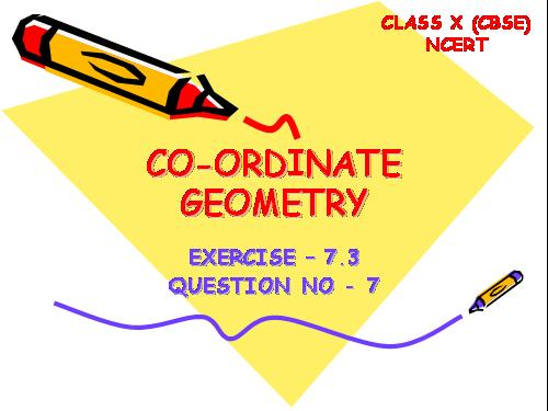 Co ordinate Geometry 