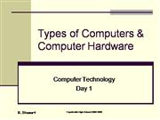 Types of Computers and Computer Hardware