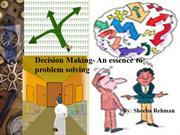 Decision+making-essence+of+problem+solving